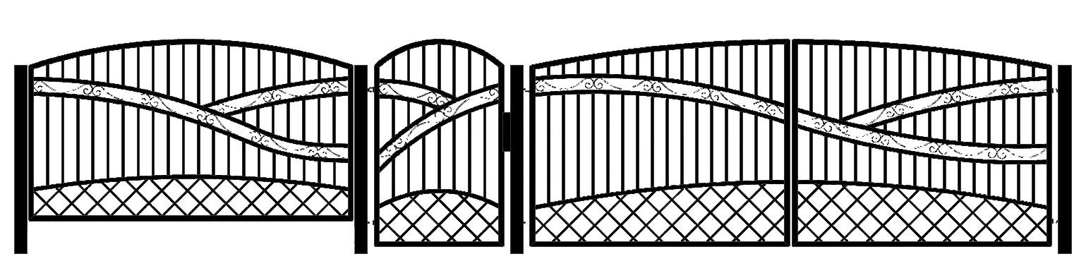 Ogrodzenia i bramy kute